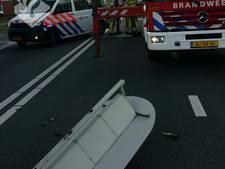 Verkeerslicht valt tijdens avondspits op wegdek in Veenendaal