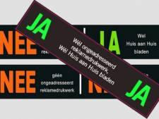 Utrechters, wees gewaarschuwd: zonder ja-ja-sticker geen reclame en krant meer op de deurmat