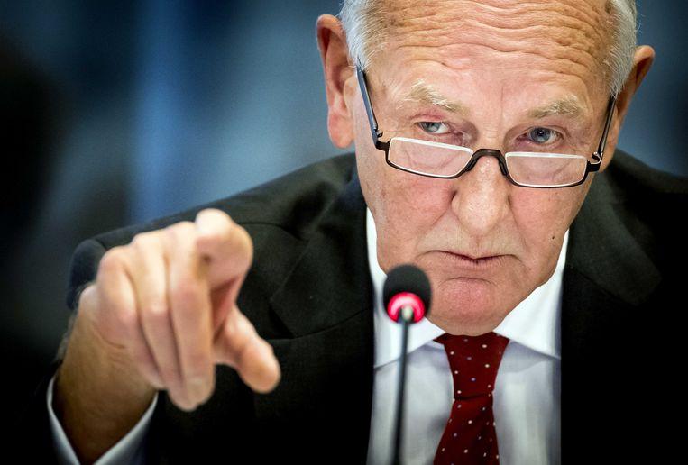 Johan Remkes tijdens een coalitieoverleg over stikstof in de Groen van Prinstererzaal.   Beeld ANP