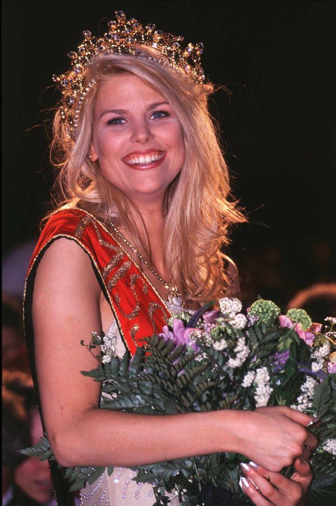 Tanja Dexters bij haar verkiezing in 1998.