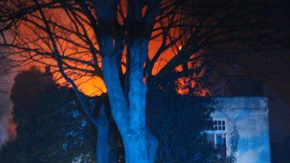 Zware brand verwoest leegstaande villa op Lippenslaan in Knokke