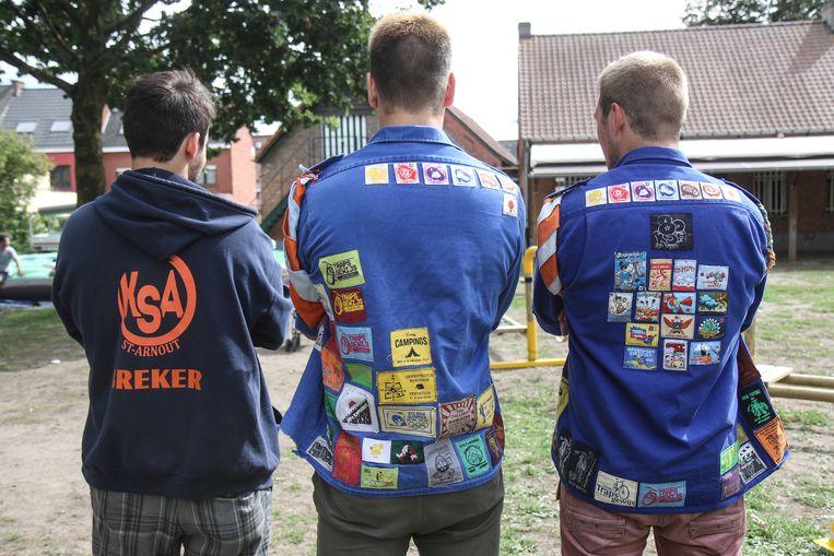 Onder andere de jongens van KSA Sint-Arnout hebben een ideale thuis op de terreinen van Jeugd Zonder Dak.