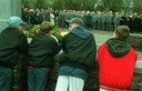 Kranslegging bij Welsh Division Monument.