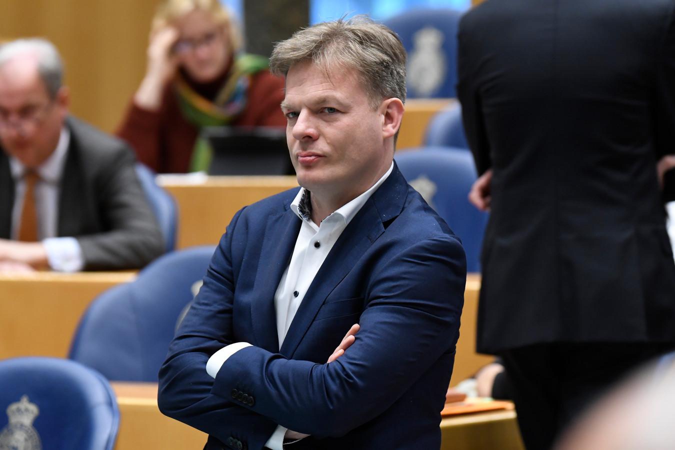 CDA-Kamerlid Pieter Omtzigt tijdens het vragenuurtje in de Tweede Kamer