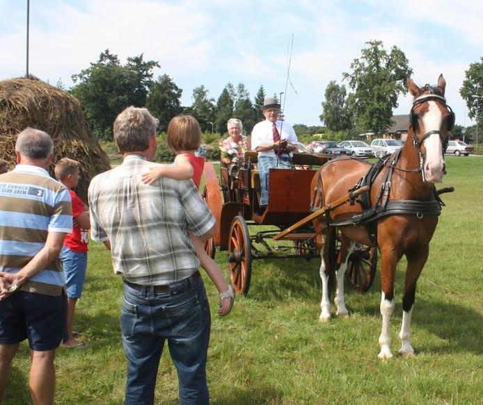 Menvereniging Wapenvelds Gerij spant zaterdag de paarden voor rondritten in Wapenveld en omgeving