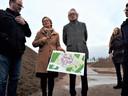 Architect Sjoerd Soeters en landschapsarchitect Mariëlle Kok bij de start van Heesterburgh.