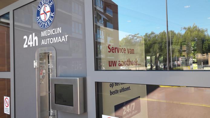 De medicijnautomaat van apotheek Noorderlicht in Helmond.