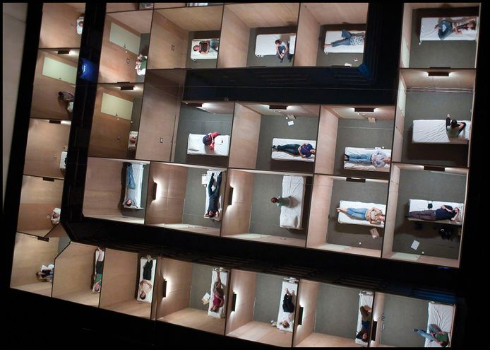 Beeld van 'U bevindt zich hier' van Dries Verhoeven. In augustus keert het project terug naar Den Bosch. Archieffoto Joep Lennarts.