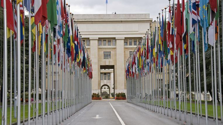 Het gebouw van de Verenigde Naties in Genève