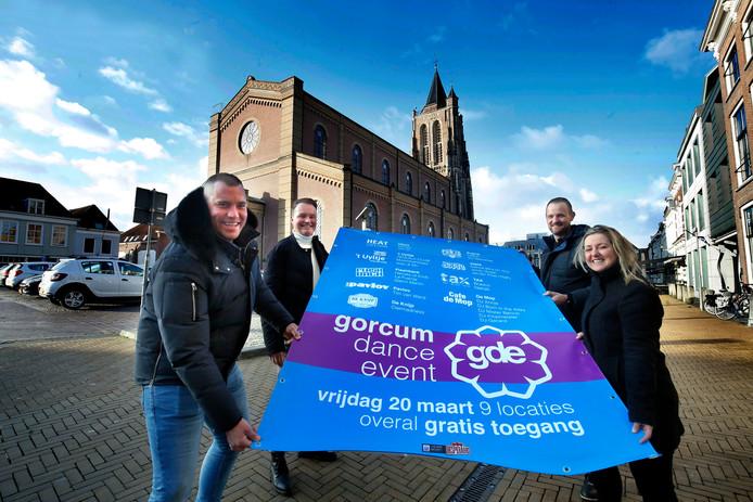 De ondernemers achter het nieuwe festival Gorcum Dance Event. Op 20 maart is het zover.