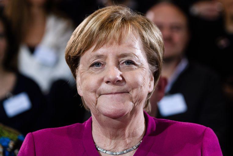 Angela Merkel wil geen nieuwe periode als bondskanselier van Duitsland. Beeld EPA