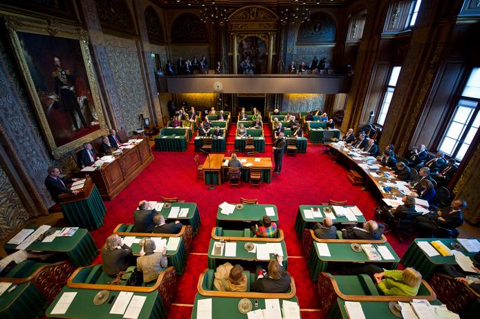 Overzicht van de Eerste Kamer in Den Haag.