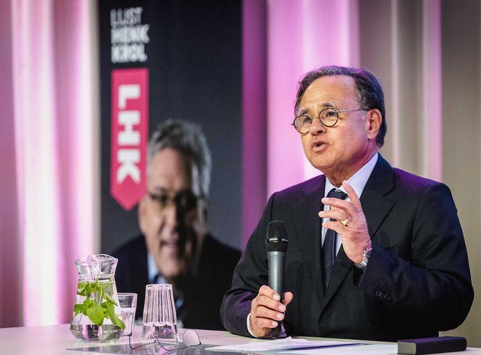 Vastgoedondernemer Pieter Bogaardt, partijvoorzitter van Lijst Henk Krol (LHK).