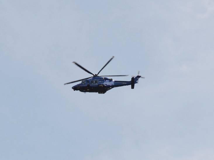 Politiehelikopter boven Rijsbergen op zoek naar inbrekers