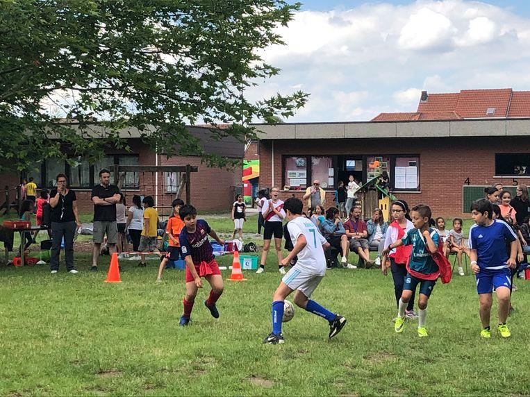 Heel wat voetbalplezier vandaag op basisschool De Groene Planeet.
