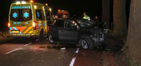 Twee gewonden uit auto gehaald na botsing op boom bij Bern
