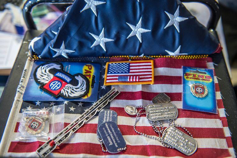 Spullen die voor elke Amerikaanse veteraan grote betekenis hebben. Beeld Cynthia van Elk