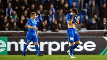 Europese afgang voor Racing Genk na pijnlijke 1-4-nederlaag tegen Slavia Praag