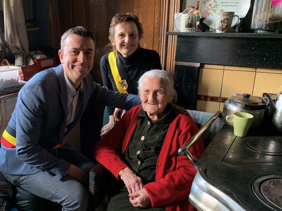 Bertha Noë uit Bierbeek werd het afgelopen weekend 108 jaar.