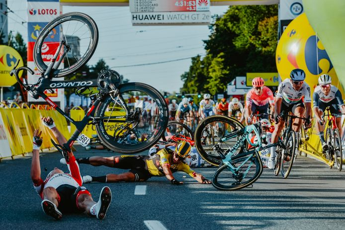 De bewuste aankomst bergaf eindigde dramatisch in de Ronde van Polen.