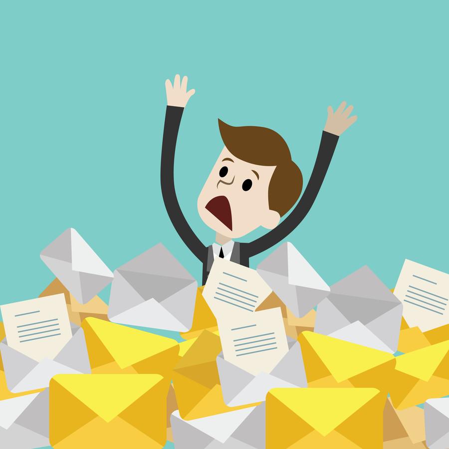 Haal rustig adem, want een volle inbox is geen reden om te hyperventileren, schrijft Thijs Launspach. Hij deelt een stappenplan