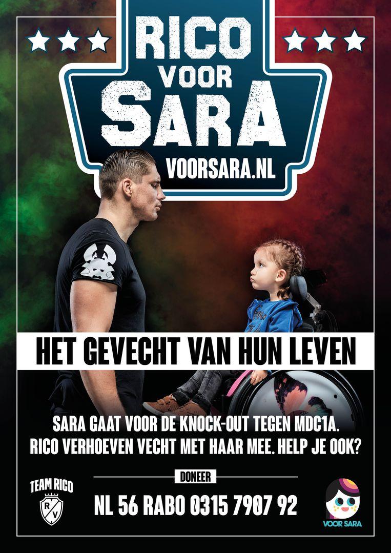 De ouders vonden in kickbokser Rico Verhoeven een enthousiaste ambassadeur. Beeld voorsara.nl