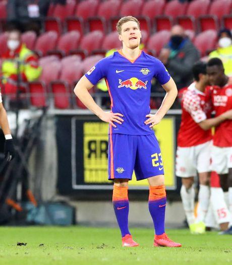Leipzig met invaller Kluivert blameert zich tegen Mainz, ook Bosz onderuit