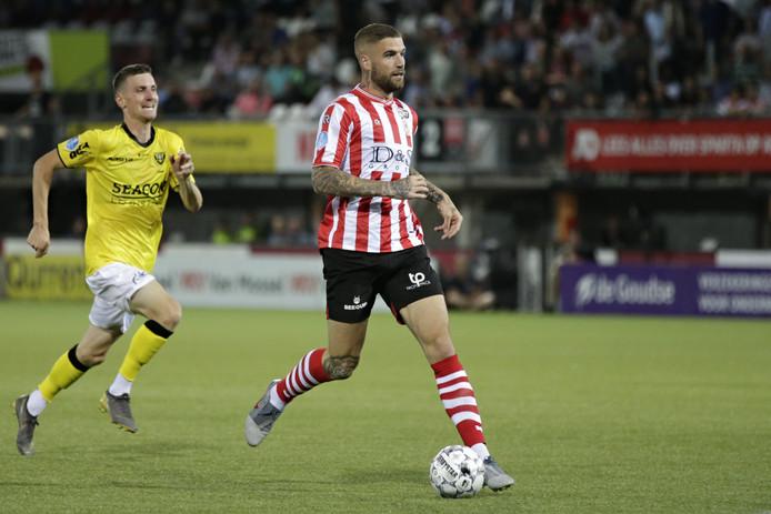Lars Veldwijk scoorde dit seizoen al twee keer als invaller voor het gepromoveerde Sparta.