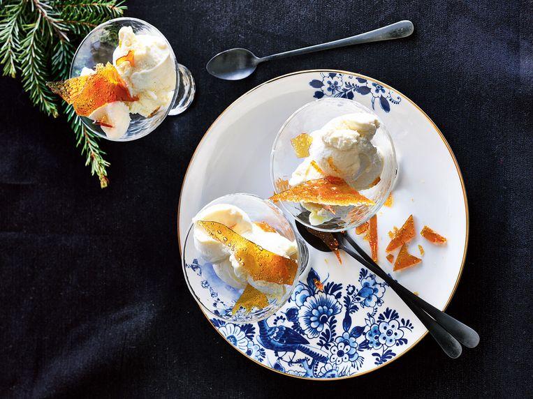 Crème brûlée-ijs Beeld Allerhande