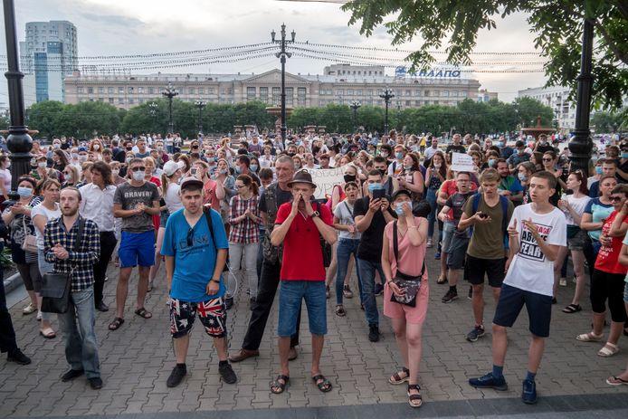 Protest als steun voor Sergei Foergal.