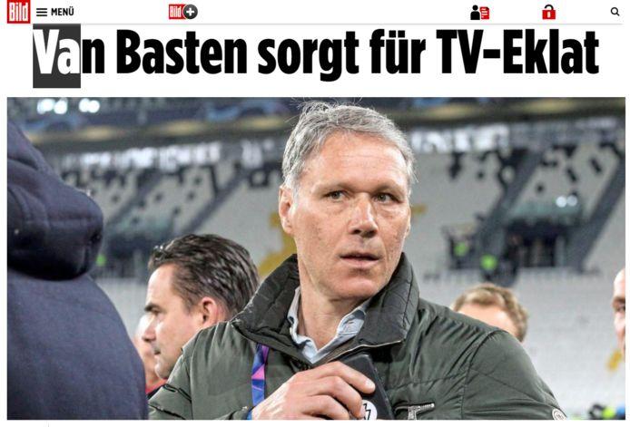 'Van Basten zorgt voor TV-schandaal', kopt Bild.