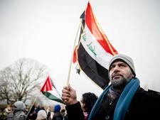 Palestijnen betogen op de Koekamp