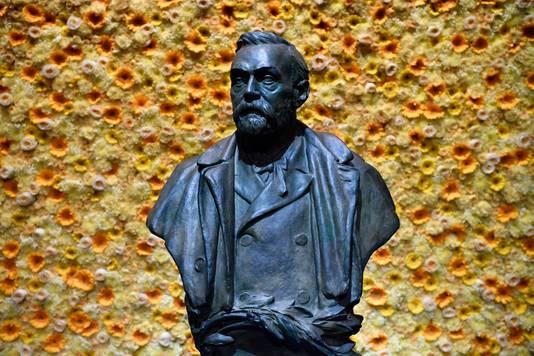 Een borstbeeld van de stichter van de Nobel Prijs,  Alfred Nobel.