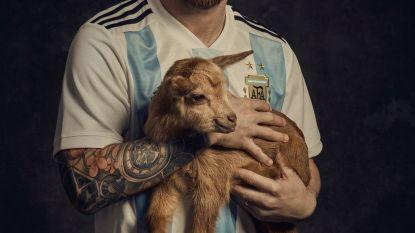 Messi bij de geiten ...