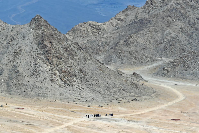 Indiase soldaten verzamelen zich in Ladakh. Beeld Hollandse Hoogte / AFP