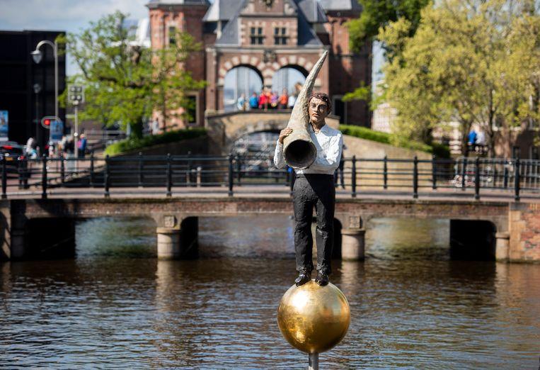 Sneek: Stephan Balkenhol (Duitsland), De fontein van Fortuna Beeld Hoge Noorden