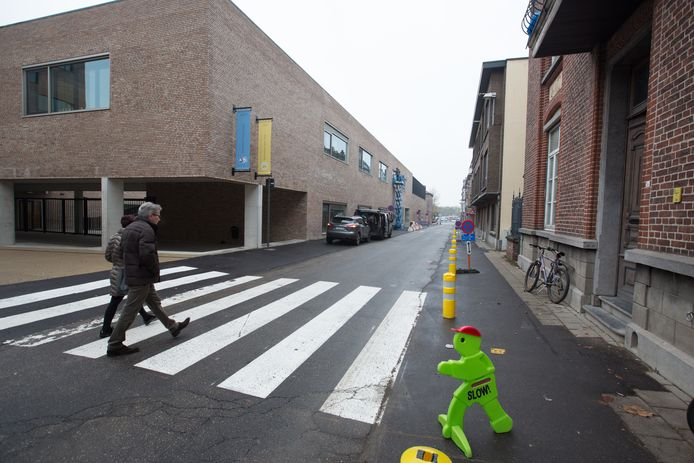 Fietsen in Sint-Truiden  geen fietspad aan gazometerstraat