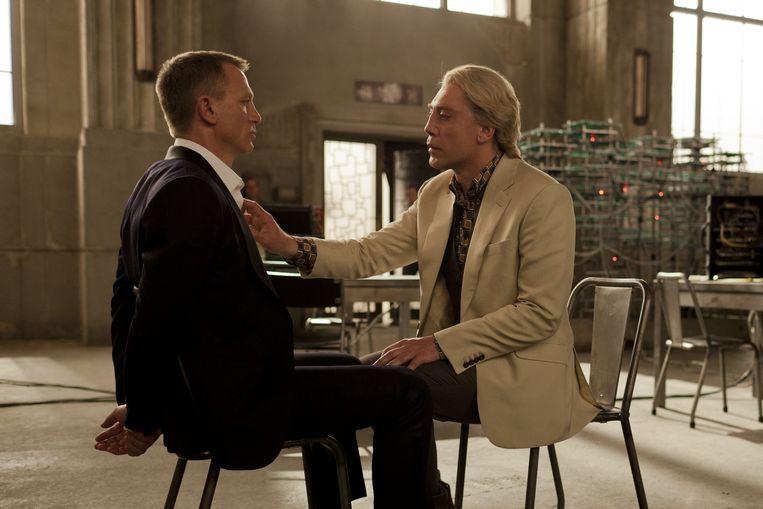 Daniel Craig en Javier Bardem in Skyfall van Sam Mendes. Beeld