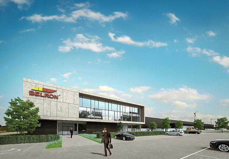 Een toekomstbeeld van het nieuwe distributiecentrum. Het hele complex wordt 36 hectare groot.