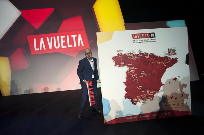 De routekaart van de Vuelta 2018.