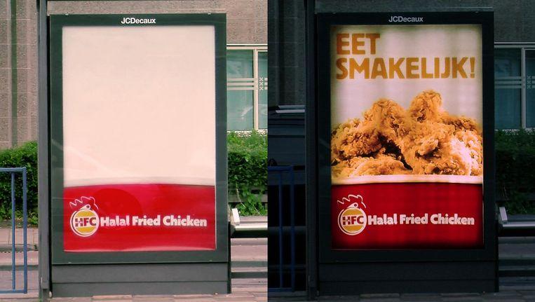 Bij Halal Fried Chicken verschijnt het gefrituurde gevogelte pas na zonsondergang. Beeld Etcetera.