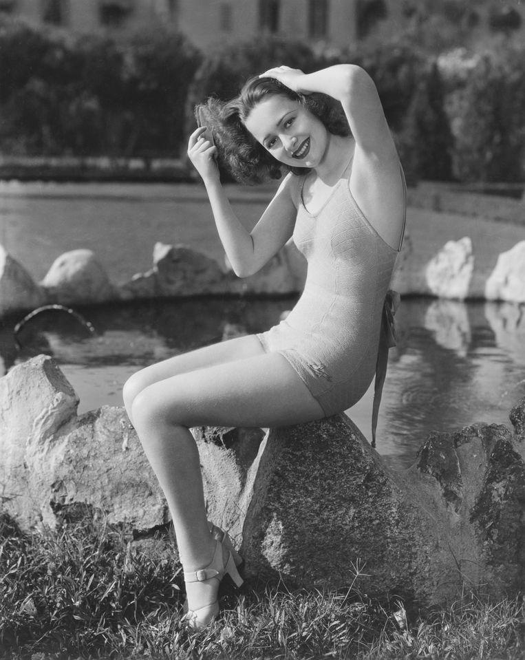 Olivia de Havilland in 1930. Beeld Corbis via Getty Images