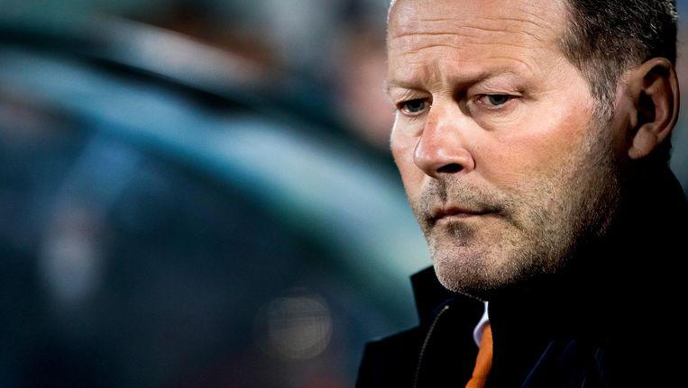 Bondscoach Danny Blind tijdens de WK-kwalificatiewedstrijd van het Nederlands elftal tegen Bulgarije. Beeld anp