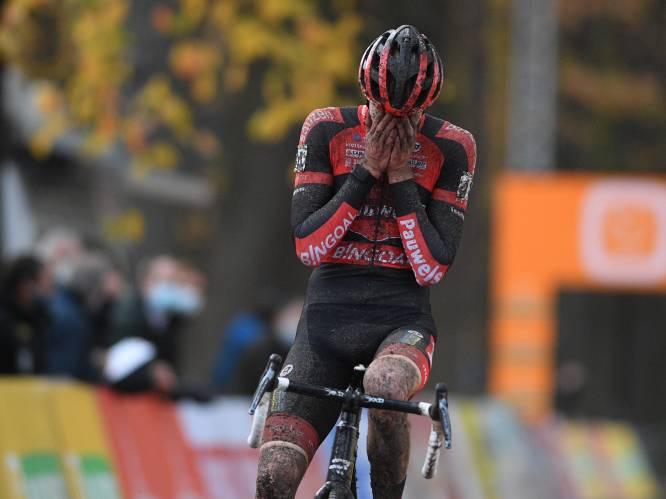 Emotionele Vanthourenhout juicht in Merksplas en pakt eerste zege in klassementscross