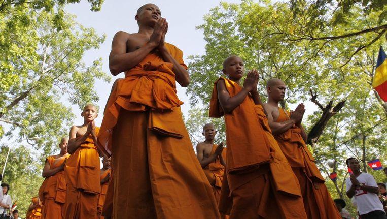 Cambodjaanse monikken. Beeld epa