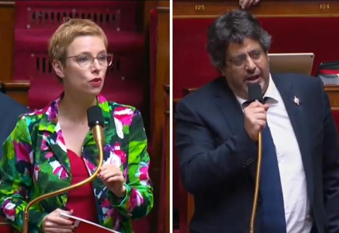 Clémentine Autain et Meyer Habib
