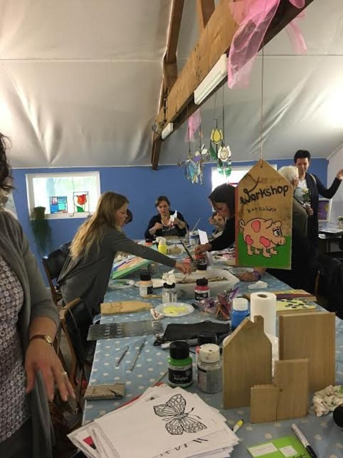 Er was veel belangstelling voor de workshops.