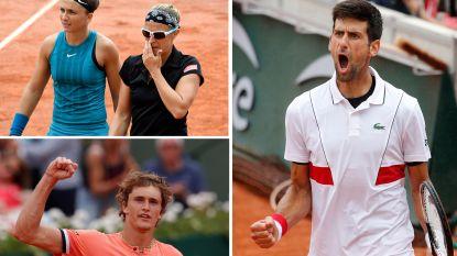 Djokovic stoot door naar achtste finales - Flipkens geraakt niet voorbij zussen Williams in dubbelspel - Tweede reekshoofd Zverev moet diep gaan in derde ronde