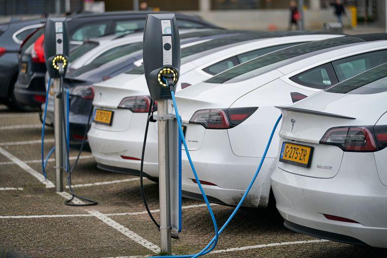 Elektrische auto's moeten stroom gaan terugleveren.  Beeld Hollandse Hoogte / Phil Nijhuis