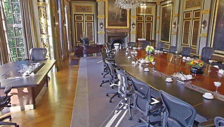 De Trêveszaal, waar de ministerraad wekelijks vergadert. Beeld null